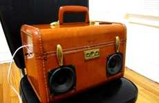 Vintage Luggage Speakers
