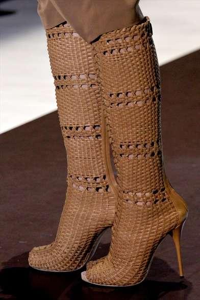 Wicker Basket Boots