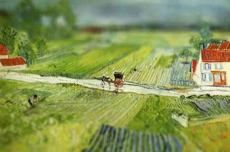 Miniaturized Famous Paintings - The 'Tilt-Shift Van Gogh' Series Brings Life to Static Images