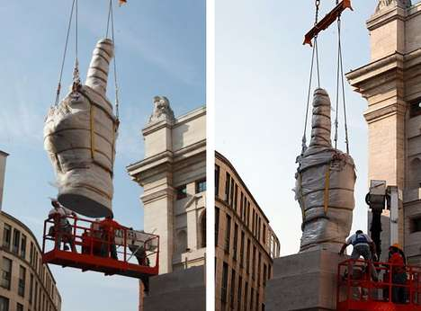 Middle Finger Statues - Maurizio Cattelan Makes Take a Jab at the Milan Stock Exchange