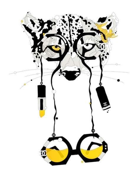 Cat-Eyed Fashion Sketches
