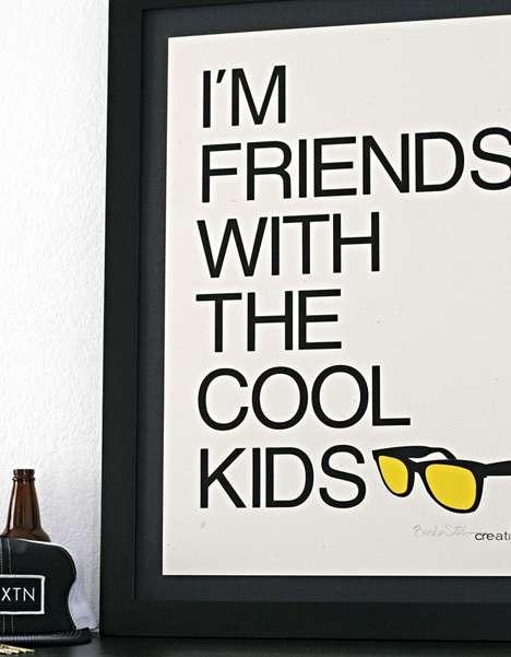Hipster Motto Art