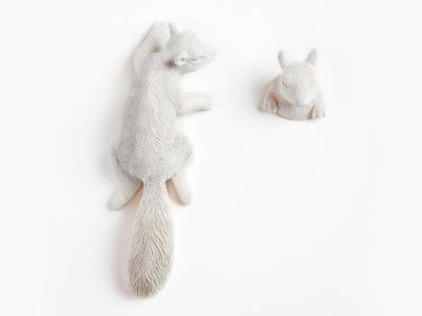 These 'Hide and Seek' Squirrel Hangers by Cecilia Lundgren are Super Cute