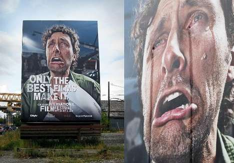 The Calgary International Film Festival Billboard is Sad and Funny