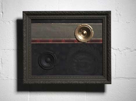 Framed Upcycled Speakers