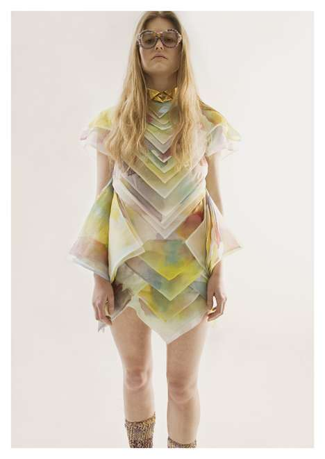 Rainbow-Layered Fashion