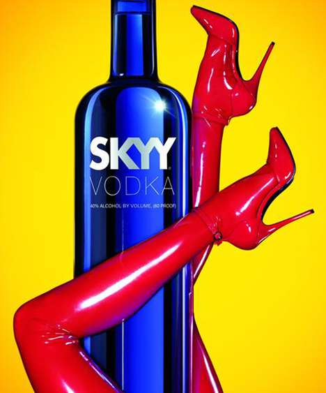 Arousing Phallic Ads - Skyy Vodka Ad Gets Uber Naughty in Their New Campaign