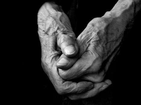 Artistic Elderly Extremities - The Algo 'Hands of an Artist' Series Shows Wrinkled Paws