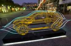 Wire Auto Sculptures - The Range Rover Evoque Installations Hype Up the Vehicle's Launch
