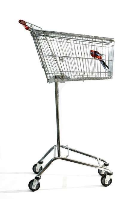Shopping Cart Birdcages