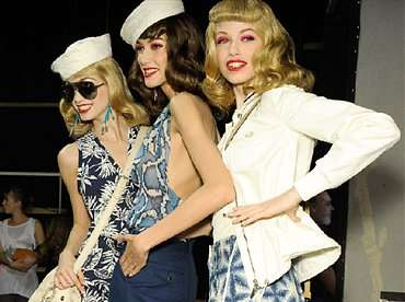 Sweet Sailor Fashions - The Christian Dior S/S 2011 Collection Combines Navy with Pretty