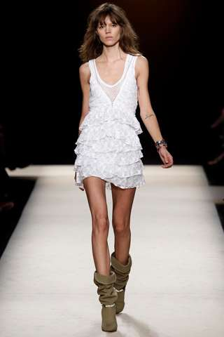 Hot Mesh-Wear - The Isabel Marant Spring Collection Features Sultry See-Through Fashions