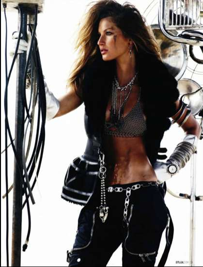 Edgy Biker Babes - Gisele Bundchen in DT Magazine is 'The Wildest'