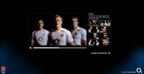 O2 Advergame - Virtually Stare Down Top Rugby Players