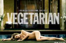 Naked For A Cause - Alicia Silverstone Strips Down For PETA