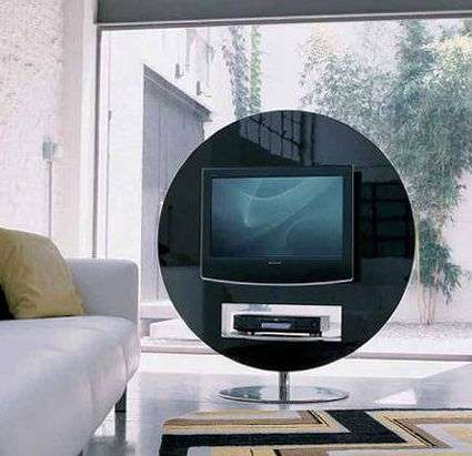 Circular TV Display - Bonaldo Swivel Stand