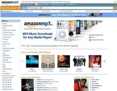 "Amazon.com Launches ""Amazon MP3"" Music Download Store"