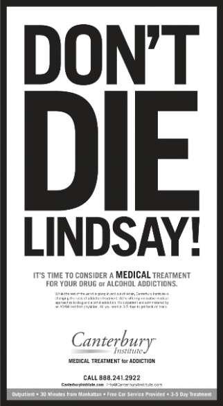 Lohan Inspires Rehab Ad