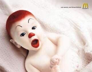 McDonalds India Uses Baby Ronald