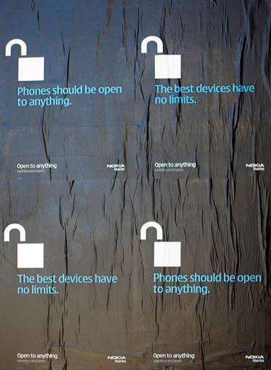 "Anti-Apple Campaign - Nokia ""Open To Anything"" Posters in NYC"