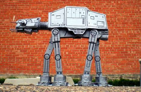 Otherworldly Replicas - A Handcrafted Duct Tape AT-AT Model Excites Jedis