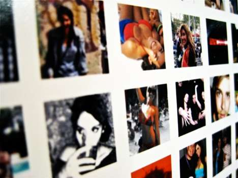 Social Media Portraits - 'Printing Facebook' Makes a Poster of Your Friends' Profile Pictures