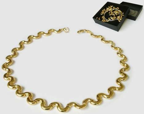 Golden Macaroni Jewelry