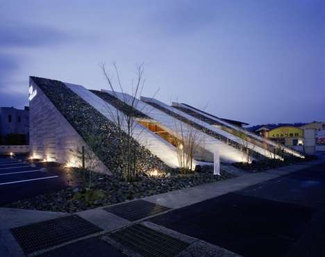 Sloping Rooftop Cafes