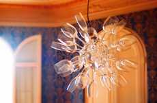 Gleaming Glassware Chandeliers
