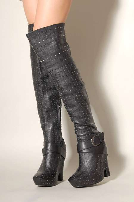 Sultry Studded Boots