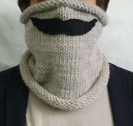 The Neckwarmer with Moustache Will Keep You Smiling in the Frigid Cold