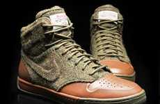 High-Class High-Tops - The Nike Harris Tweed Kicks are Classy and Casual