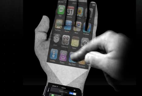 Projected Cell Technology - The iPhone 'Next G' is Virtually Weightless in Your Palm