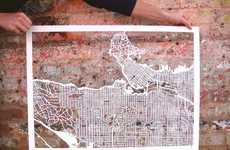 Intricate Hand-Cut Maps