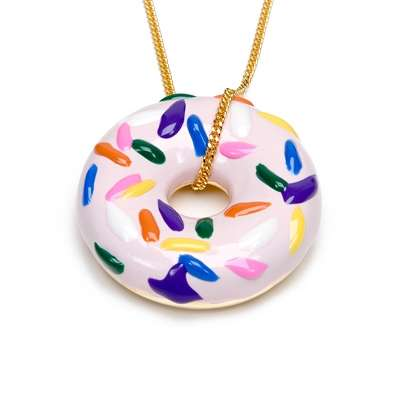 Blinged-Out Doughnuts - Wear You Favorite Pastries With Petit Donut Necklaces By Calourette