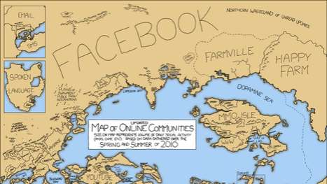 Social Media Maps - The Randall Munroe 'Online Communities' Maps Give Direction to n00bs