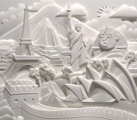 Intricate Scene Papercrafts