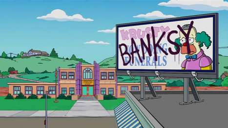 Controversial Cartoon Makeovers - Banksy Directs Simpsons Opening Credits