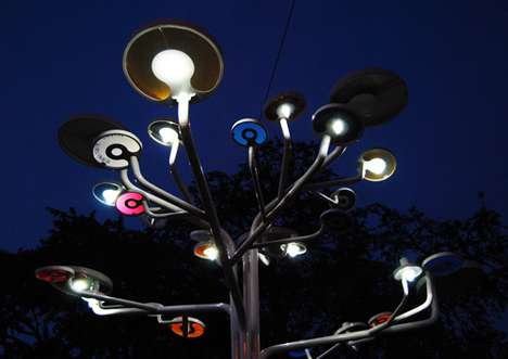 Sun-Powered Public Lighting - Nothing Design's Solar Trees Light Streets in Angkor Wat in Cambodia