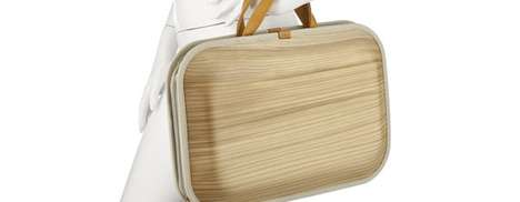 Natural Note Holders - The Monacca Cedar Wood Briefcase is Raw and Luxurious