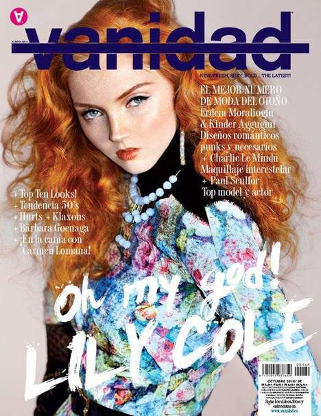 Chic Redhead Spreads - Lily Cole Looks Gorgeously Put Together in Vanidad Magazine