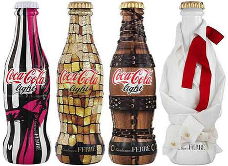 Cola Couture Canteens - New Gianfranco Ferre Coca-Cola Bottles are Extravagantly Limited