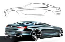 Luxury Concept Auto Sketches - The BMW 6 Series Coupe Concept Car is to Start Production in 2011