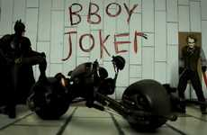 Stop-Motion Interactive Games - Batman & Joker Face Off in Break Dance Challenge