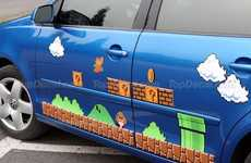 Gaming Car Decals - Pimp Your Ride with the Super Mario Vinyl Car Decal