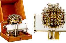 Spherical Steampunk Writers - The Writing Ball is a Peculiar Vintage Typewriter