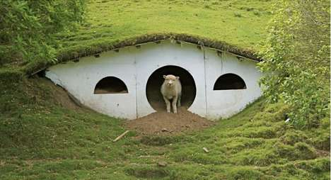 Hobbit Hole Livestock Lodgings - Now the 'Hobbiton' Shire is Home to Sheep