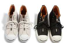 Zipped-Up Anniversary Kicks - The Converse Jack Purcell Zipper Celebrates the Shoe's 75th Birthday