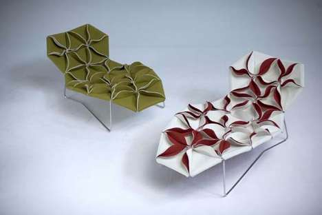 Floral Origami Chairs