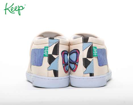 Eco Pastel Kicks - These Animal Collective and Keep Company Sneakers are Creative and Fun